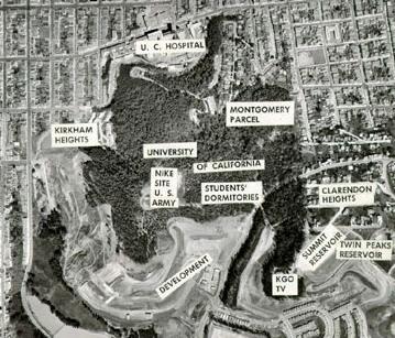 Mount Sutro in 1958