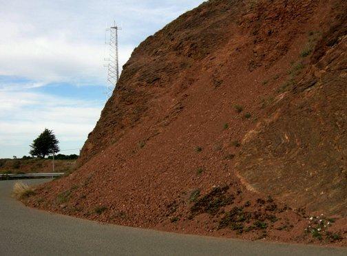 rockslide on Twin Peaks