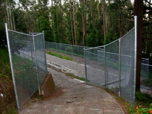 chain link fence on a hill 3