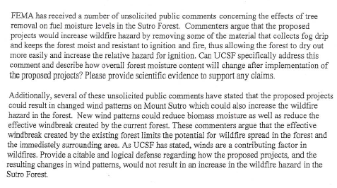 FEMA Letter - drying the forest
