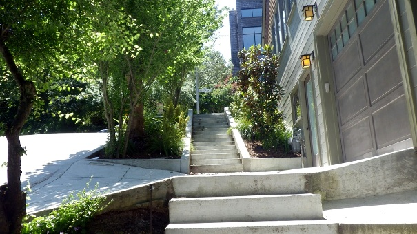 1. Stanyan sidewalk steps up to Belgrave - Tony Holiday