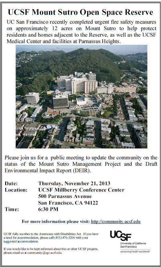 ucsf announcement 21 nov 2013  meeting
