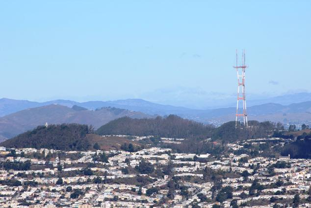 Mt Davidson and Mt Sutro 2015-12-25 Copyright Tom Roop