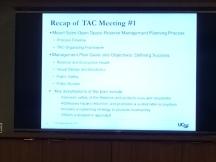 Recap of previous meeting, TAC#1