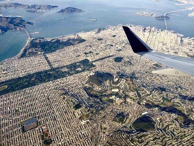 Western part of San Francisco taken from a commercial jet. Photo credit: @FionaFaytv of the IRN- NutritionHub.org